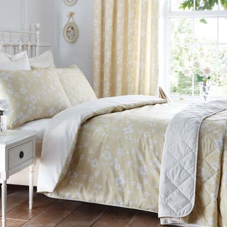 Marcia Ochre Duvet Cover and Pillowcase Set