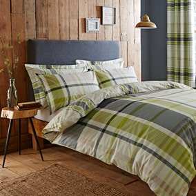 Stanley Green Duvet Cover and Pillowcase Set