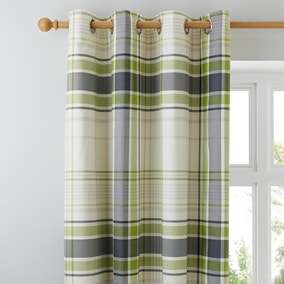 Stanley Green Thermal Eyelet Curtains