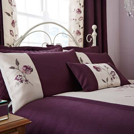 Verity Plum Housewife Pillowcase