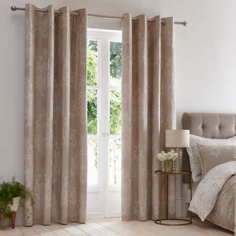 Versailles Natural Thermal Eyelet Curtains