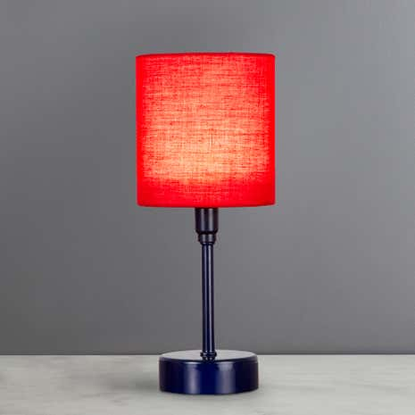 Navy Battery Operated Lamp