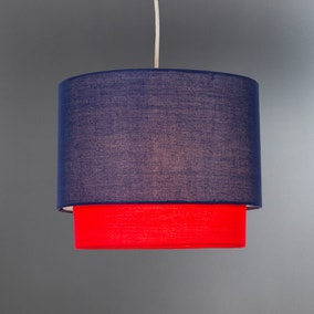 Navy 2 Tier Pendant Shade