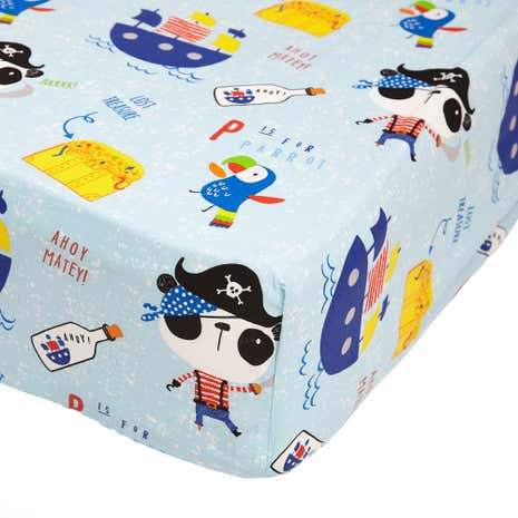 Pirate Panda Fitted Sheet