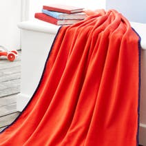 Red Fleece Throw