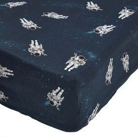 Space Navy Single Fitted Sheet