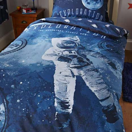 Space Navy Duvet Cover Set
