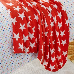 Red Star Knitted Blanket