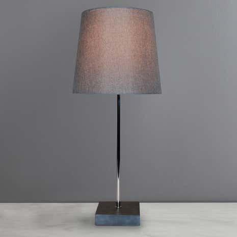 Finley Slate Stem Grey Table Lamp