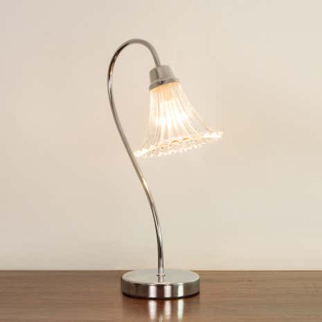 Imogen Glass Chrome Table Lamp
