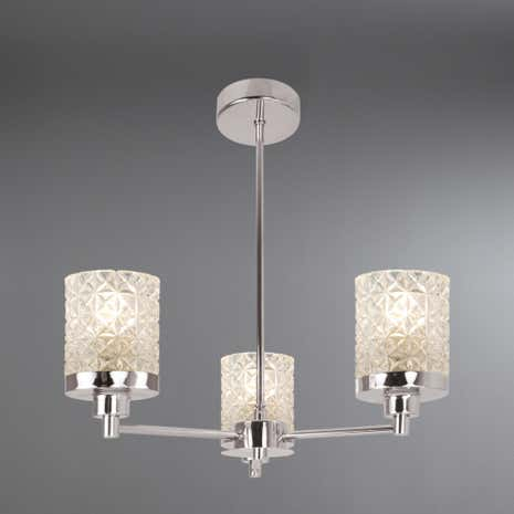 Satine Chrome 3-Light Fitting