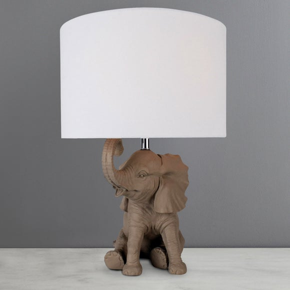 Savannah Elephant Table Lamp | Dunelm