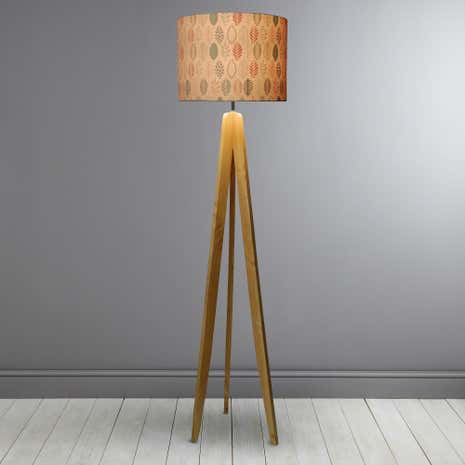 Skandi Natural Leaf Tripod Floor Lamp