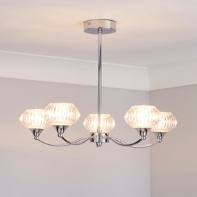 Sofia Chrome 5-Light Fitting