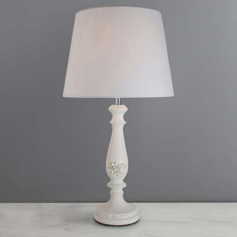 White Toulouse Table Lamp