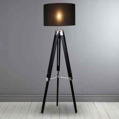 trio black tripod floor lamp