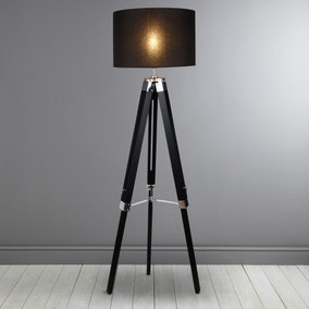 Trio Black Tripod Floor Lamp