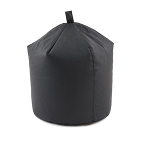Black Leather Look Bean Bag