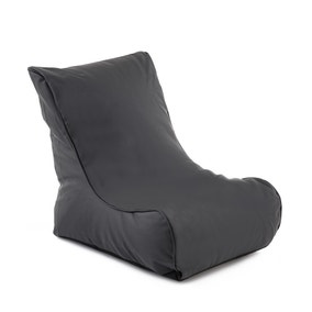 Black Leather Look Bean Chair