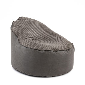 Charcoal Jumbo Cord Opal Bean Chair