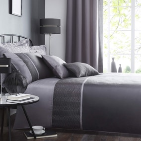 Owen Black Duvet Cover