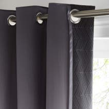 Owen Black Thermal Eyelet Curtains