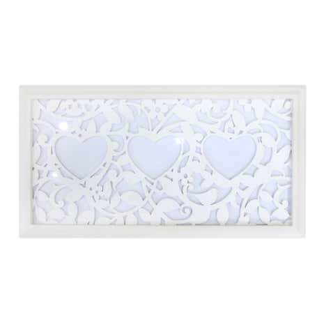 3 Aperture Heart Laser Cut Photo Frame