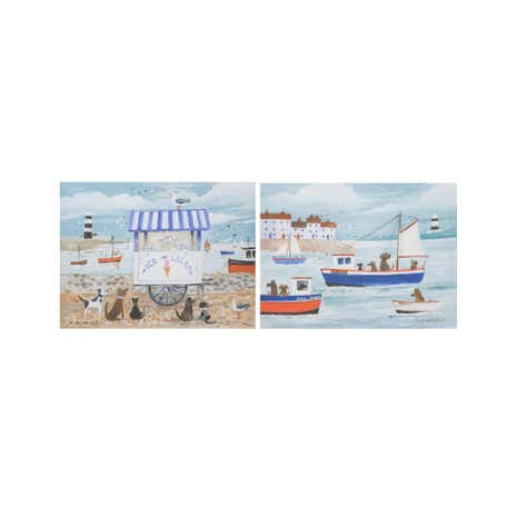 Nautical Dogs Canvas