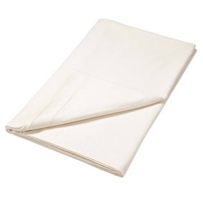 Luxury Brushed Cotton Cream Flat Sheet