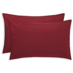 Luxury Brushed Cotton Wine Housewife Pillowcase Pair