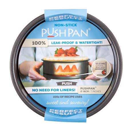 PushPan Non-Stick Shallow Cake Pan