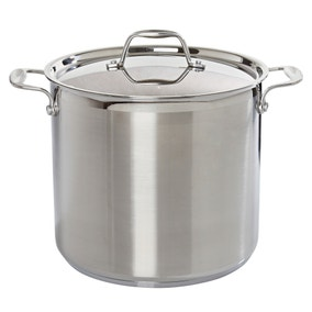 Brushed Stainless Steel Stock Pot