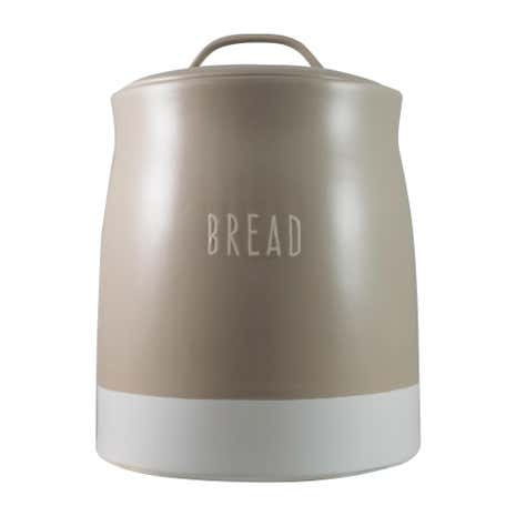Rustic Romance Dipped Bread Crock Taupe