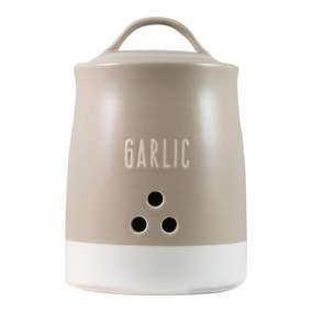 Rustic Romance Garlic Canister