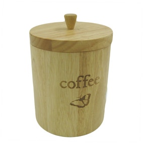 Rustic Romance Wooden Coffee Canister