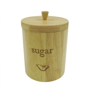 Rustic Romance Wooden Sugar Canister