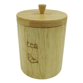 Rustic Romance Wooden Tea Canister