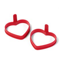 2 Heart Shaped Silicone Egg Rings