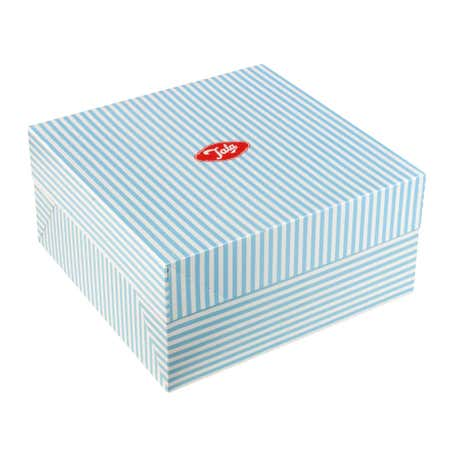Tala Blue Candy Stripe Cake Box