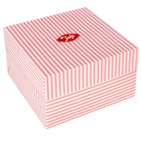 Tala Pink Candy Stripe Cake Box