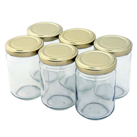 Tala Pack of 6 Clear Glass Screw Top Jars