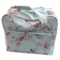 Beautiful Birds Duck Egg Sewing Machine Bag
