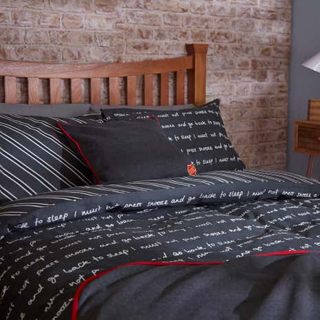 Off To Uni Grey Duvet Cover Set
