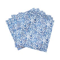 Ditsy Pack of 20 3-Ply Blue Paper Napkins