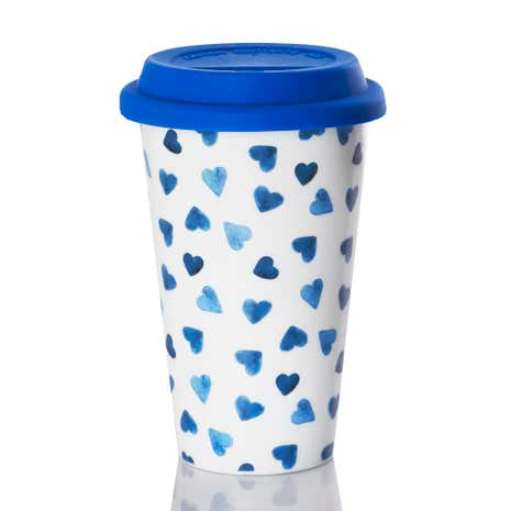 Ditsy Hearts Travel Mug