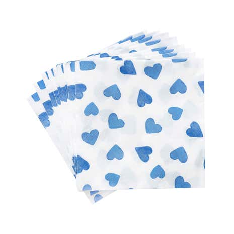 Hearts Pack of 20 3-Ply Paper Napkins