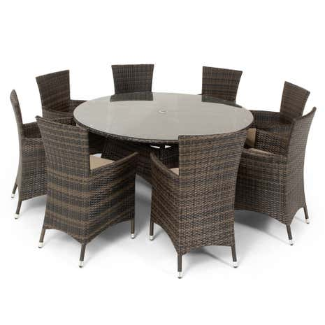 California 9 Piece Round Dining Set