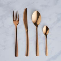 Copper Cutlery 16 Piece Set