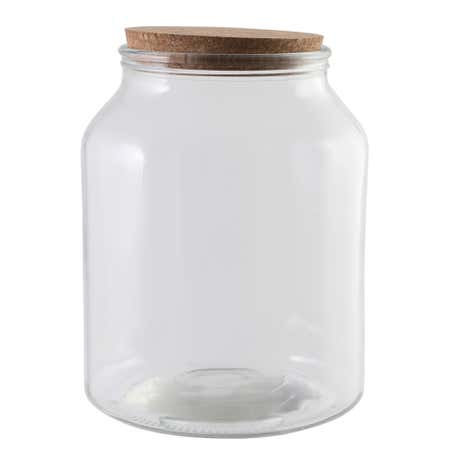 Large Glass Storage Jar with Cork Lid