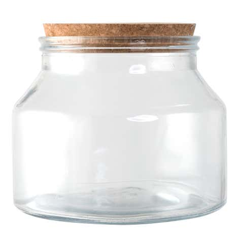 Small Glass Storage Jar with Cork Lid